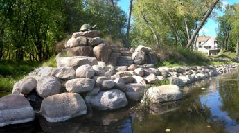 Retaining Walls with Riprap Minneapolis